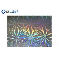 China Rainbow Color Smart Card Material , Holographic Plastic Film Overlay For ID Card wholesale