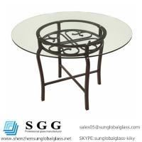 China Excellence quality round,oval,square,rectangle shape tempered furniture glass top wholesale