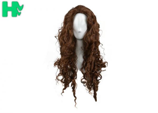 Quality Curly Colorful Long Synthetic Wigs Non Remy Hair Ventilate Comfortable for sale