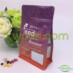 China Flat Bottom Cat Pet Food Packaging Bag Zip Lock Side Gusset Sealed Kraft Paper wholesale