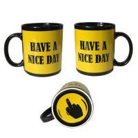 Finger Mug with 5 color styles Black Ceremic Printing Finger cup Mug 11oz/300ml