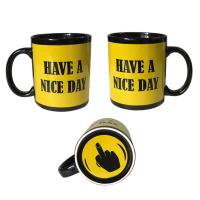 China Finger Mug with 5 color styles Black Ceremic Printing Finger cup Mug 11oz/300ml wholesale