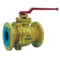China Industrial Lined Ball Valve With Once-Through Floating Structure Q41F-10C-65 wholesale