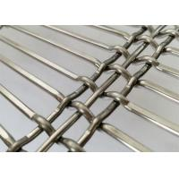 China Custom Facade Flexible Weave Metal Screen With Stainless Steel Flat / Round Wire wholesale