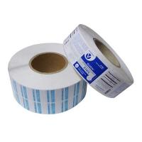 China custom paper adhesive labels for glass bottle,Paper material adhesive label on roll forms made in China wholesale