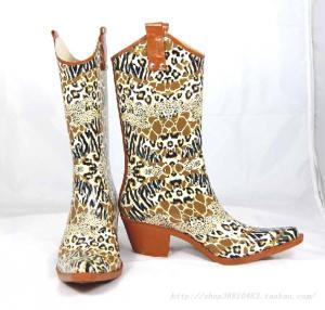 China women's cowboy rubber rain boots on sale