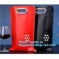 China Eco friendly Neoprene 2 Pack Bottle Carrier Extra Thick Insulated Baby Bottle Cooler Bag Tote Wine Bottle Protector pack on sale