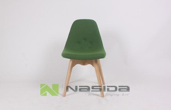 Quality 4 legged Eames Walnut Modern Wood Dining Chairs Furniture Small CH271 for sale