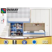 China Youth Bedroom Furniture Sets Storage Loft Bed With Stairs for Boys wholesale