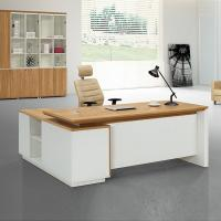 China Simple style melamine high end office furniture executive desk set wholesale