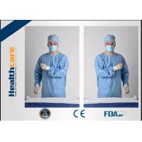 China Blue Disposable Surgical Gowns Sterile Reinforced Knitted Wrists Gowns ISO CE FDA Approved wholesale