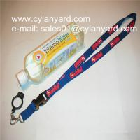 China Functional outdoor drink bottle hanging lanyards with printed logo, wholesale