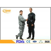 China Multi Color PVC Disposable Sauna Suit Full Body For Lady / Man Lose Weight wholesale
