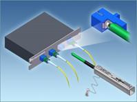 China LC / MU Fiber Optic Cable Cleaner 2.5mm 1.25mm , Ergonomic Singleclick Cleaner on sale