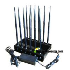 China 12 Antennas 30W High Power Prison/Jail Lojack Cellphone Signal Jammer  Block GSM DCS 3G 4G LTE Wifi 5.8G Lojack 315 433 wholesale