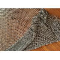 China Stainless Steel Ring Mesh Drapery 1.2MM X10MM Used Window Treatments , Backdrops wholesale