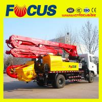 China sinotruck and dongfeng 28m truck mounted concrete boom pump with factory price wholesale