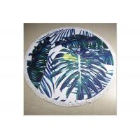 China 100% Cotton Circle Beach Towel With Tassel , Round Towel Beach For Floor wholesale