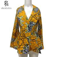 China Fashion Design Women African Ladies Jackets Long Flare Sleeve Wax Printed on sale