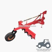 4GBRW - tractor 3point hitch grader blade with rippers with rear support wheel 4Ft
