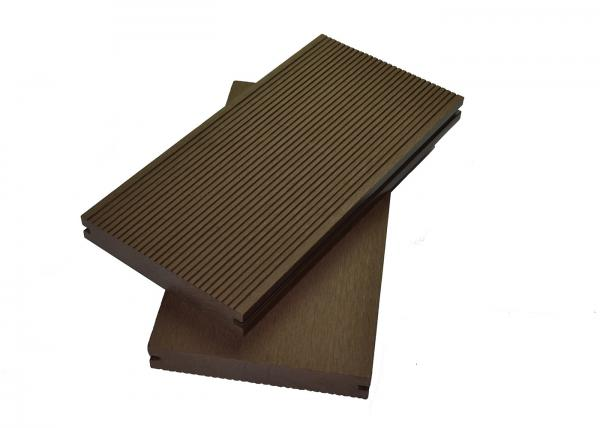 Quality Swimming Pool Outside Anti UV Sanding WPC Composite Decking Floor 12mm - 38.5mm Thickness for sale