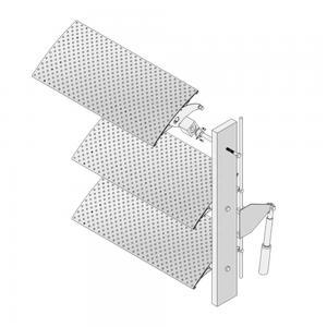 China Building Facade Cover Sun Louvers Systems , Aluminium Sun Louvers Motorized wholesale