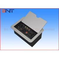 China Panel Cover Tabletop Flip Up Power Outlet Box Aluminum Alloy For Office Furniture on sale
