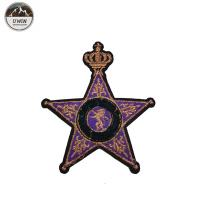 China Luxurious star shape 3D Embroidery Patches Changeable Color non pollution wholesale