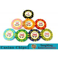 Texas Hold'em / Metal Poker Chips For Casino Gaming With Numbers Casino Chips for sale