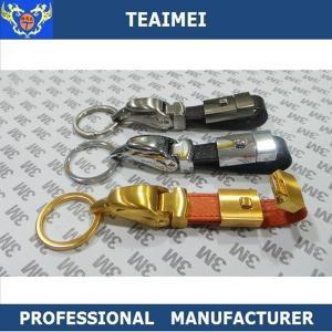 China Luxurious Jaguar Head Car Keychains , Custom Leather Keyrings wholesale