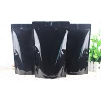 China All Black Laminated 3 Layers Foil Packaging Bags Customized Moisture Proof wholesale