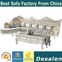 China 156 wooden carved Luxury home furniture Royal genuine leather sofa set. 1+2+3 seater combination fabric sofa wholesale
