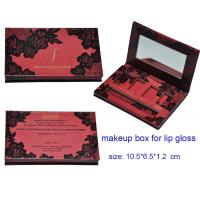 Buy cheap 4 colors Lip Palette Paper Packaging Boxes with Mirror, Paper Cosmetic Packaging Boxes, Ma from wholesalers