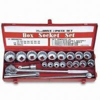 China 21-piece Socket Wrench Set with 20mm Drive and Highly Polished/Chromed Finish wholesale