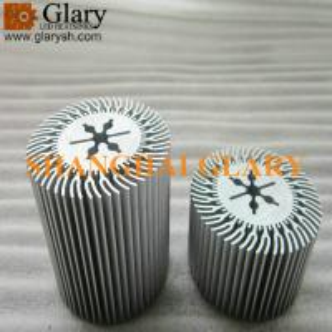 "GLR-HS-073 2.953"" round aluminum extruded profile heatsinks, led cooler"