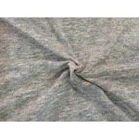 China Gray Drop Needle Interlock Knit Fabric With Wicking & Anti - Bacterial Finish on sale