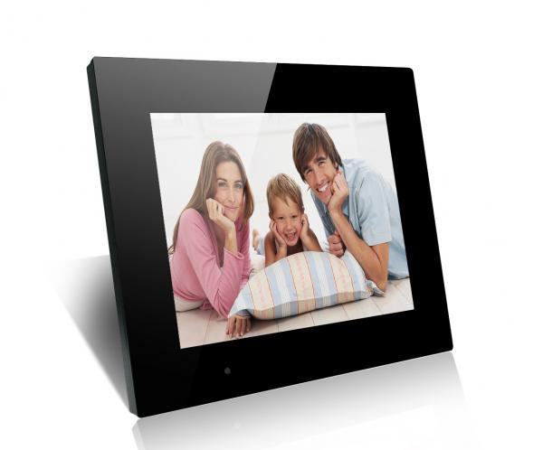 "Quality Black 15"" Family And Friends LCD Digital Photo Frame With Mirror Cover for sale"