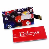 China Customize Business Card Size Paper Usb Webkey 128mb - 2gb Storage Capacity wholesale