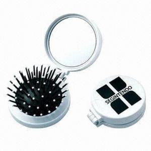 China Promotional Travel Folding Hair Brush with Mirror wholesale