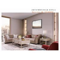 China Light American sofa set Luxury leather sofa for Living room reception seating furniture and Coffee tables on sale
