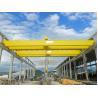 China Grúa de puente doble electromágnetica del haz con el cubo del gancho agarrador, alzando el equipo wholesale