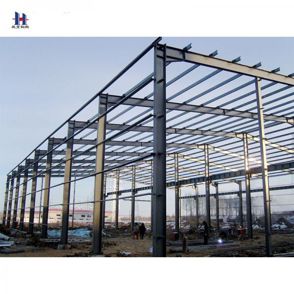 Quality Easy Install Assembly Pre Engineering Light Portal Frame Steel Structure Workshop With Certificate for sale
