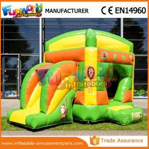 China Message publicitaire plein d'entrain gonflable drôle vert/de jaune diapositive 0.5mm de PVC de bâche wholesale