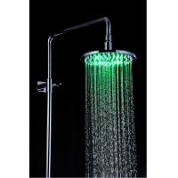 China Bathroom Rain Showers Heads Led Lighted Stainless Steel Φ200 x 9mm on sale