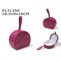 China Valentines Day Decoration Gift Box Set Purple Pink Color With Faux Leather Loop wholesale