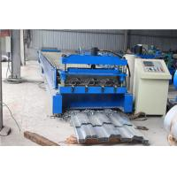 China High Strength Floor Deck Roll Forming Machine With 350 Yield Stress Material wholesale