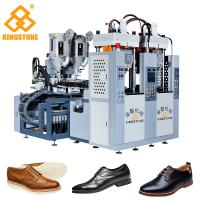 China Men Leather Shoes Sole Injection Molding Machine , 2 Colors TPR Sole Making Machine wholesale