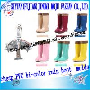 China 2014 cheap unique style PCU bi-color rain boot die on sale