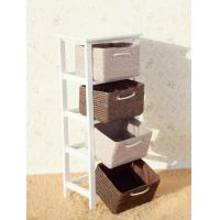 Buy cheap Wood Standing Box Drawers Cabinet Home Organizer from wholesalers