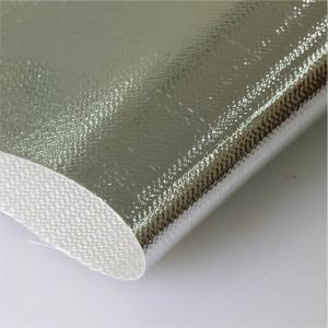 China Aluminum Coated Glass Fiber Cloth Al3732 High Tensile Thickness 0.4mm wholesale